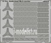 72553 Eduard 1/72 Фототравление для Sunderland Mk.I exterior