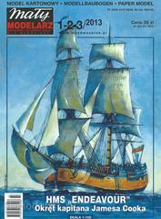MM 1-2-3/2013  Maly Modelarz Бумажная модель HMS Endeavour