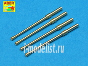 A32 014 Aber 1/32 Set of 4 barrels for Japanese 20 mm Type 99 aircraft machine cannons
