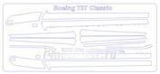 14852 KV Models 1/144 Набор окрасочных масок на противообледенительные поверхности самолета Boing-737 Classic (300/ 400/ 500)