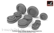 AW48029 Armory 1/48 set of wheel extensions for MiG-21 Fishbed Wheels with weighted tires, later