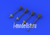 672043 Eduard 1/72 Набор дополнений AIM-9D Sidewinder