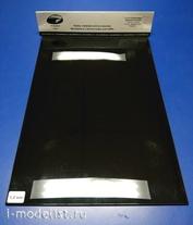 AH0064 Aurora Hobby Polystyrene sheet black 1 mm, 3 sheets 20x30 cm