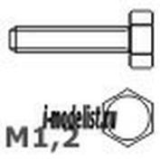 112 03 RB model Винт с восьмигранной головкой (кол-во 20 шт.). Материал: латунь.  Hex head screws M1,2  L=3 D=0,8 S=2