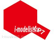 82107 Tamiya LP-7 Pure Red (Красная глянцевая) Лаковая краска 10мл.