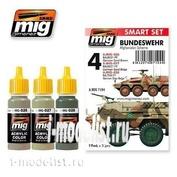 AMIG7104 Ammo Mig Набор акриловых красок BUNDESWEHR AFGHANISTAN SCHEME (Камуфляж техники BUNDESWEHR в Афганистане)