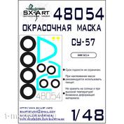 48054 SX-Art 1/48 Окрасочная маска для Суххой-57 (Звезда)