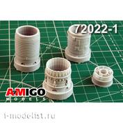 AMG72022-1 Amigo Models 1/72 Sukhoi-17M Jet Nozzle engine AL-21F