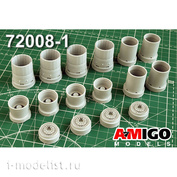 AMG72008-1 Amigo Models 1/72 Tu-160 Jet nozzles of the NK-32 engine