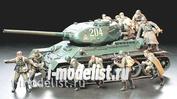 35207 Tamiya 1/35 Советский танковый десант (12 фигур) с ППШ-41 и ППШ-43, пулеметом Дегтярева в атаке