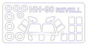14529 KV Models 1/144 Набор окрасочных масок для NATO HELICOPTER NH-90 + маски на диски и колеса