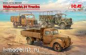 DS3507 ICM 1/35 3-т грузовые автомобили Вермахта (V3000S, KHD S3000, L3000S)