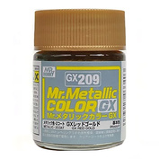 GX209 Gunze Sangyo Краска Mr.Hobby Mr.Metallic Color GX: Красно-золотой металлик, 18 мл.
