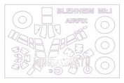 72190 KV Models 1/72 Bristol Blenheim Mk.I + маски на диски и колеса