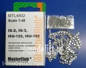 MTL-4802 MasterClub 1/48 tracks stacked iron for is-2, is-3, ISU-122, ISU-152