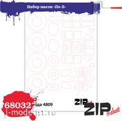 68032 ZIPmaket 1/48 Набор масок «Пе-2», производитель Звезда