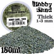 10014 Green Stuff World Густой песок, 180 мл - Серый / Thick Hobby Sand 180ml - Grey