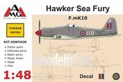 48601 AMG Models 1/48 Самолет Hawker Sea Fury Mk.X RAF