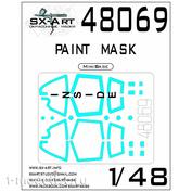 48069 SX-Art 1/48 Окрасочная маска Суххой-33 (MiniBase)