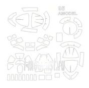 72500 KV Models 1/72 Набор окрасочных масок для Туплев-95М/У