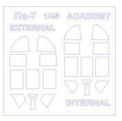 48014 KV Models 1/48 Маска для Ла-7 (двухсторонняя маска)