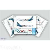 738-058 Ascensio 1/144 Декаль на самолет Boeing 737-800 (Alaska Airlines (Incredibles))