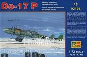 92108 RS Models 1/72 Do 17 P (4 decal variants for Luftwaffe)