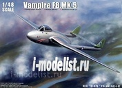 02874 Trumpeter 1/48 Самолет Vampire FB.MK 5