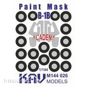 M144 026 KAV Models 1/144 Окрасочная маска на B-1B (Academy)