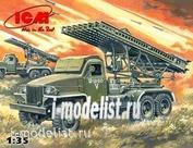 35512 ICM 1/35 БМ 13-16, система залпового огня