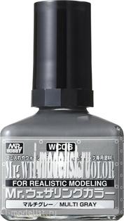 WC06 Gunze Sangyo Смывка MR.WEATHERING Color - Multi Gray