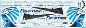 321-03 PasDecals 1/144 Decal on A-321 (star) Egyptair