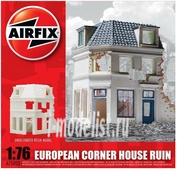 75003 Airfix 1/76 European Corner House Ruin