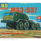 1353AVD AVD Models 1/43 Сборная модель Седельный тягач МАЗ-537