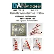 DM72510 DANmodel 1/72 Стремянка авиационная техническая №2 на 5 ступенек