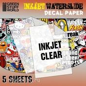 10066 Green Stuff World Прозрачная бумага для создания декалей, для струйной печати / Waterslide Decals - Inkjet Transparent
