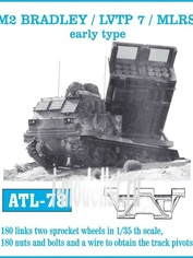Atl-35-78 1/35 Траки железные для M2 Bradley / Lvtp 7 /MLRS early type