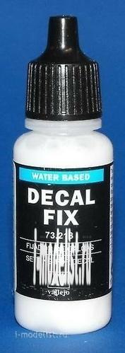 73213  Vallejo Жидкость для фиксации декалей/Decal fix, 17мл.
