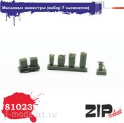 81023 ZIPmaket 1/35 Масляные канистры (набор 7 элементов)