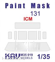 M35 019 KAV models 1/35 Окрасочная маска на остекление З.и.Л-131 (ICM) Основная