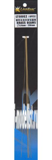 LT0062 Lion Roar Пруток металлический, диаметр 0,4 мм. Длина 200 мм. В комплекте 5 штук.