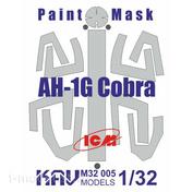 M32 005 KAV models 1/32 Окрасочная маска на AH-1G Cobra (ICM)