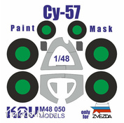 M48 050 KAV Models 1/48 Окрасочная маска на Суххой-57 (Звезда)
