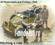 35161 MasterBox 1/35 Hitching a ride, US Paratroopers and Civilians