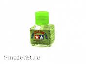 87038 Tamiya Liquid glue with a thin brush 40 ml. - glass jar.