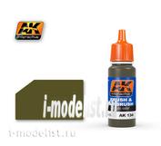AK-134 AK Interactive acrylic OLIVE DRAB BASE (olive USA, based)