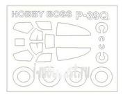 72564 KV Models 1/72 Маска для P-39N/Q AIRCOBRA  + маски на диски и колеса