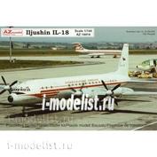 AZ14412 AZModel 1/144 Ilyushin Il-18 (Czech airlines, Interflug)