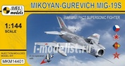 MKM14401 Mark I. model 1/144 Mikoyan-Gurevich MiG-19S Warsaw Pact Supersonic Fighter