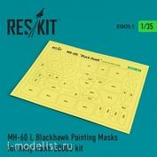 RSM35-0002 Reskit 1/35 Окрасочная маска для MH-60 L Blackhawk